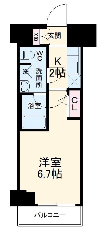 ARCOBALENO MUSASHIKOSUGI・404号室の間取り