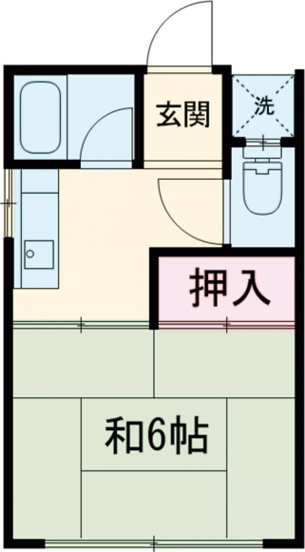 工藤荘・208号室の間取り