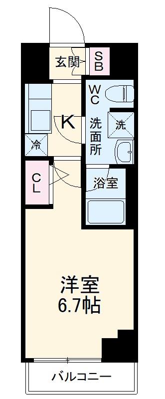 ARCOBALENO MUSASHIKOSUGI・507号室の間取り