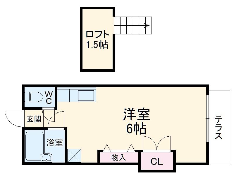 ラインヴィラ大巌寺B・206号室の間取り