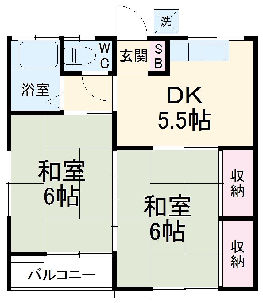コーポムラタ・201号室の間取り