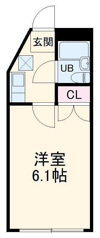 ルミネヤシマ大和・302号室の間取り