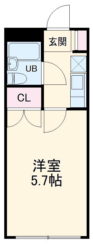 ルミネヤシマ大和・303号室の間取り