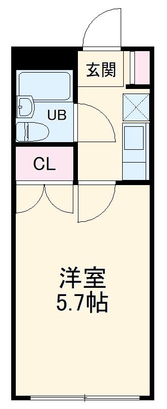 ルミネヤシマ大和・305号室の間取り