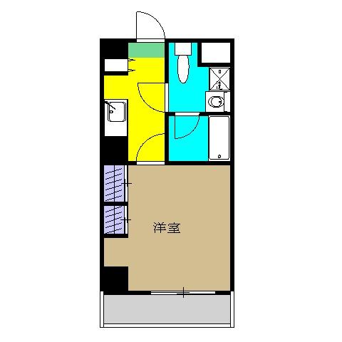 Flat平塚・1208号室の間取り