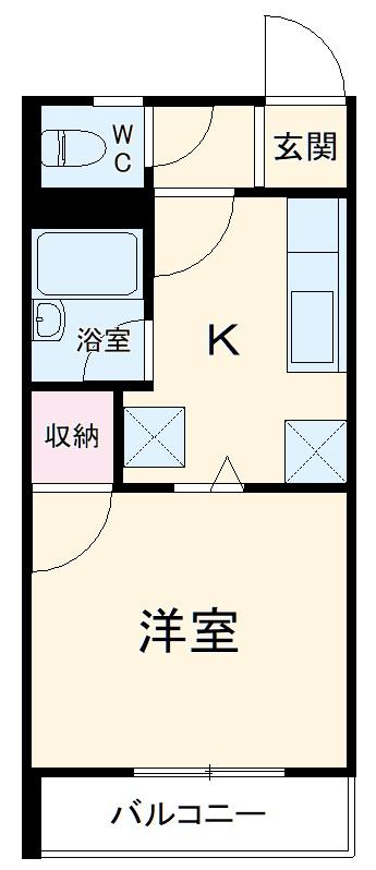 レクリオヒロ西池新田・102号室の間取り