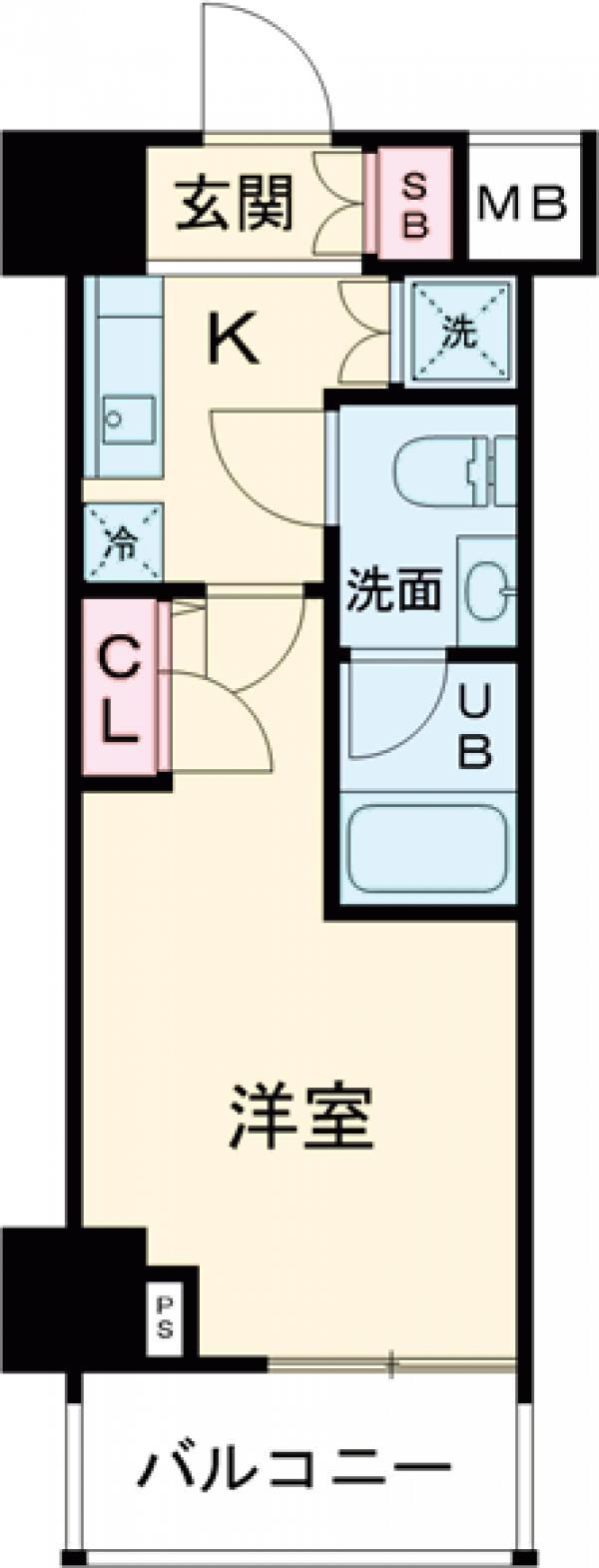 スカイコート品川パークサイドⅡ・102号室の間取り