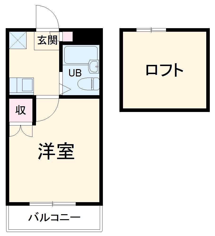 昭和コーポ上柴東・205号室の間取り
