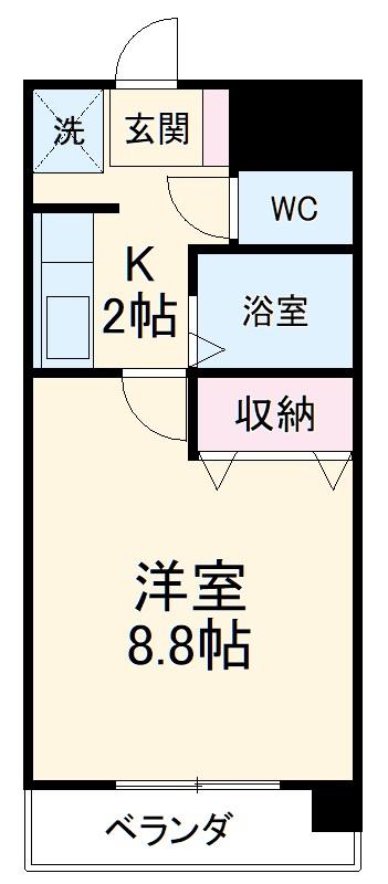 サンハイム寺田・206号室の間取り
