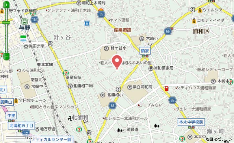 グランガーデンⅢ 3203号室の地図