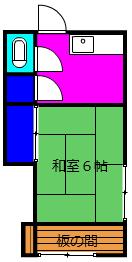 金子アパート・202号室の間取り