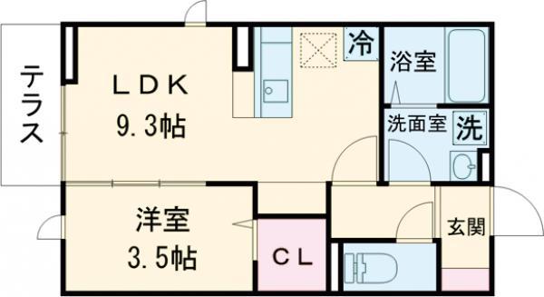 仮)D-room武蔵台・103号室の間取り