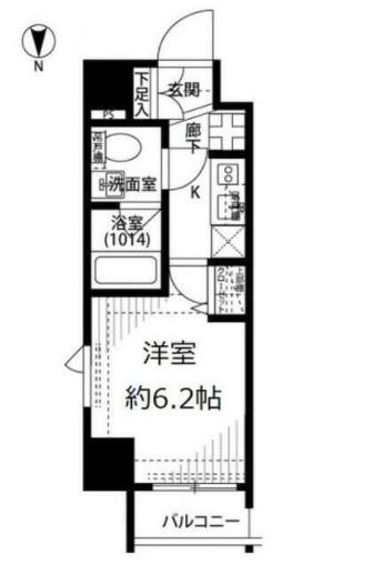 プレール・ドゥーク早稲田Ⅱ・701号室の間取り