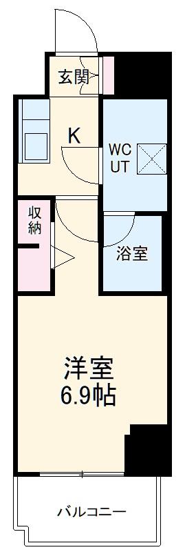 スパシエ東神奈川・701号室の間取り