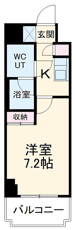 スパシエ東神奈川・1103号室の間取り