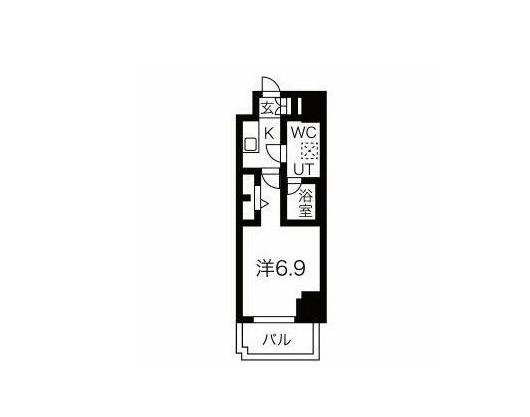 スパシエ東神奈川・601号室の間取り