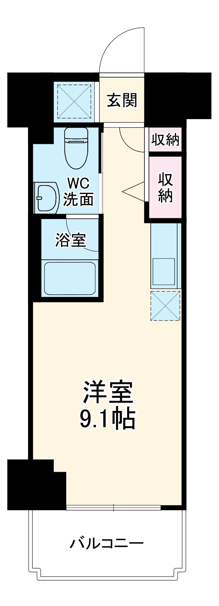 スパシエ東神奈川・1107号室の間取り