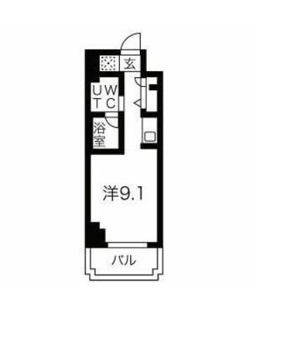スパシエ東神奈川・705号室の間取り