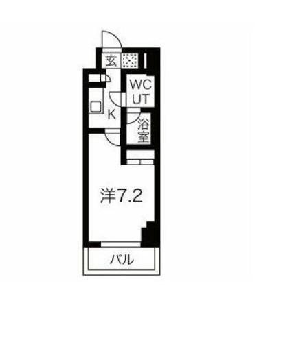 スパシエ東神奈川・808号室の間取り