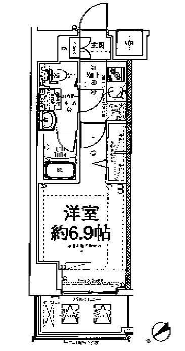 スパシエ東神奈川・809号室の間取り