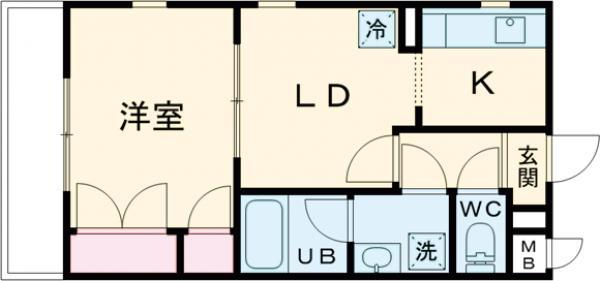 ユーコート世田谷松原・105号室の間取り