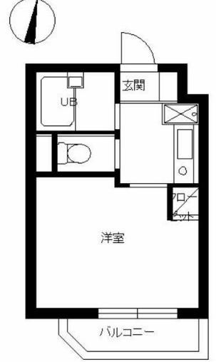 スカイコート新宿落合第6・319号室の間取り