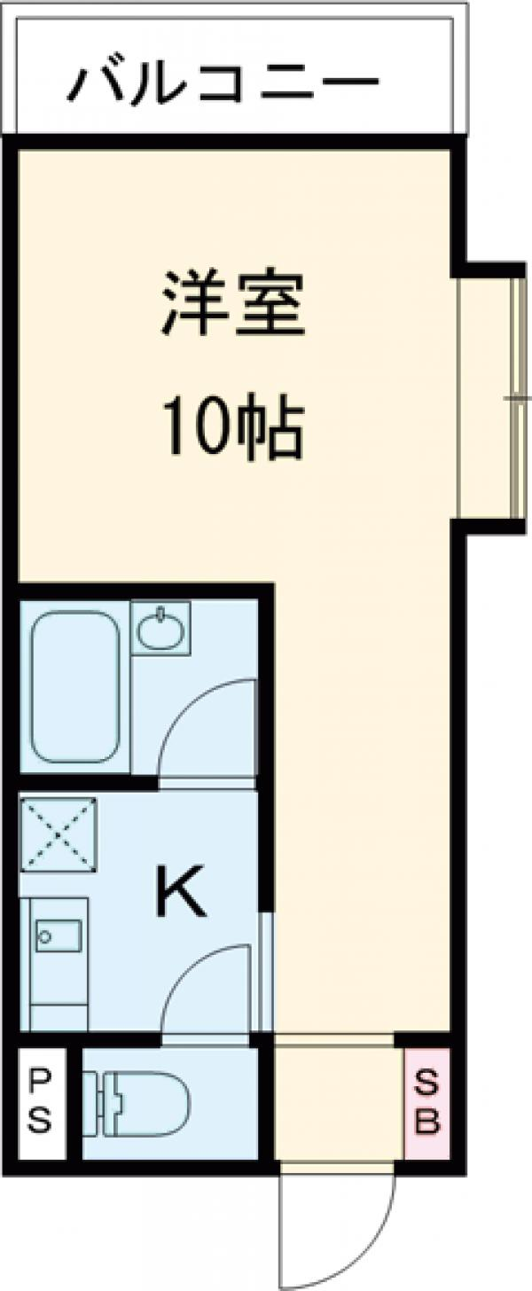 ハイツ桜丘A棟・101号室の間取り