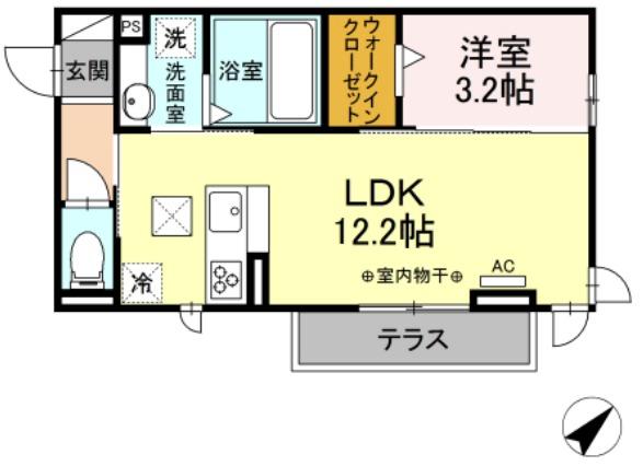 (仮)D-room茂福・101号室の間取り