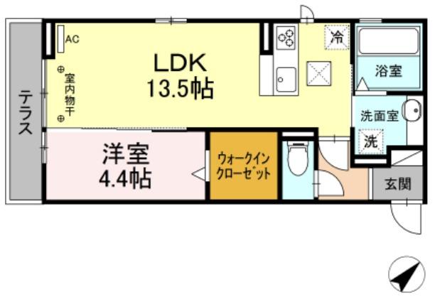 (仮)D-room茂福・103号室の間取り