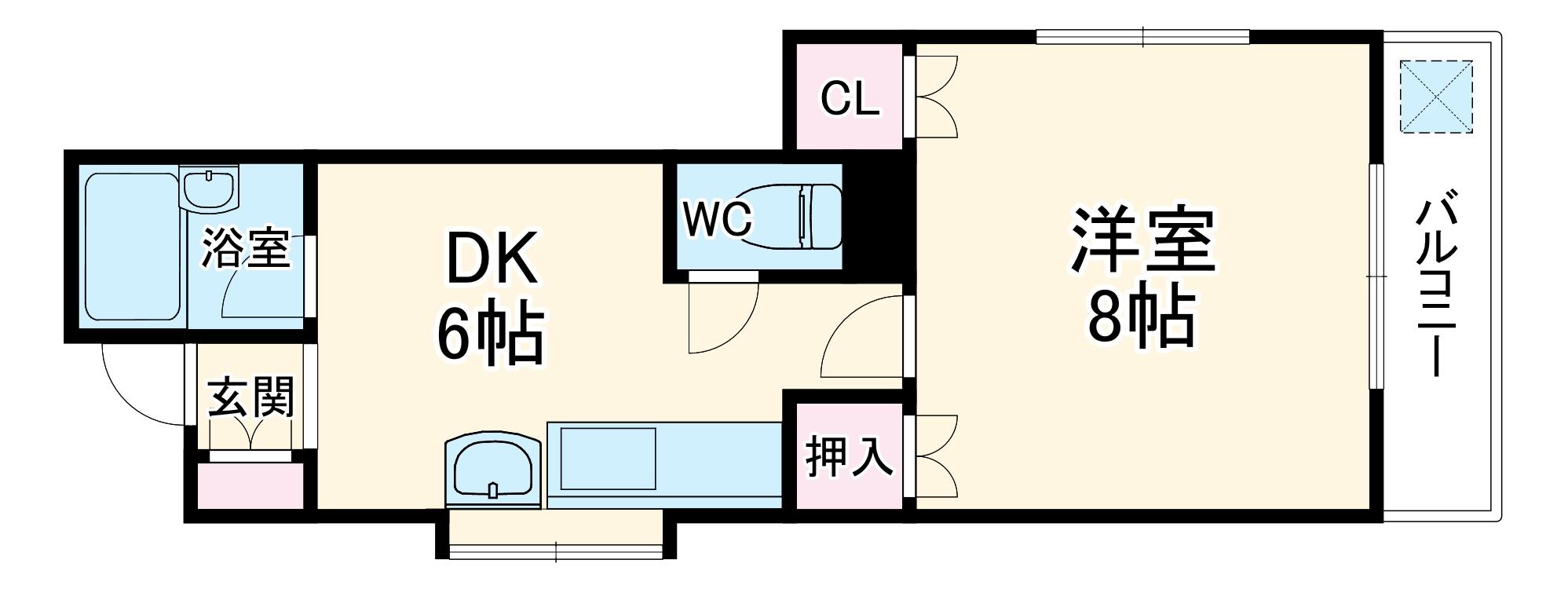 エクセレント筑紫・203号室の間取り