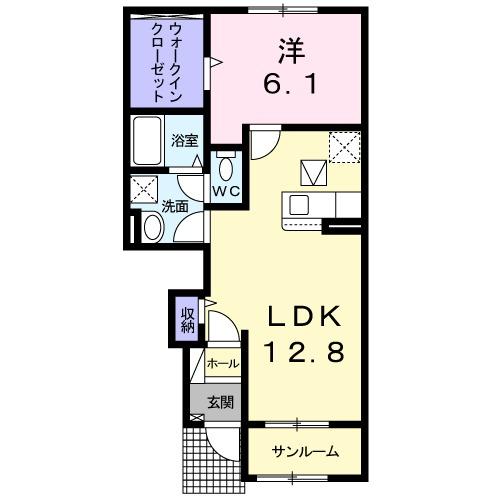西福俵アパート(025977901)・01020号室の間取り