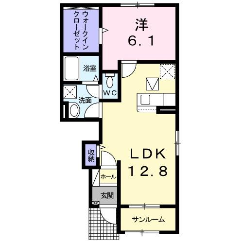 西福俵アパート(025977901)・01040号室の間取り