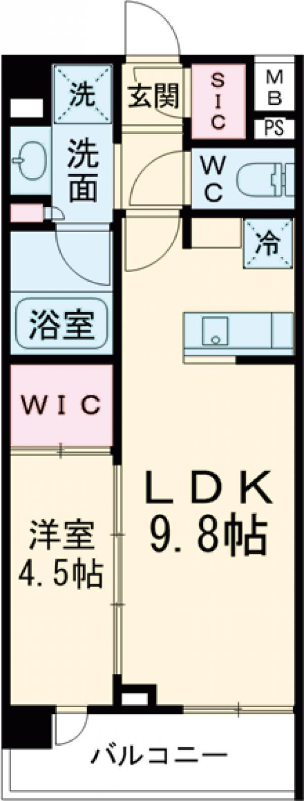ルフォンプログレ中野富士見町ザ・レジデンス・110号室の間取り