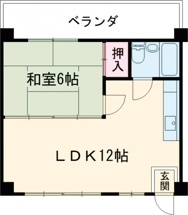 ケイコー港川マンション・206号室の間取り