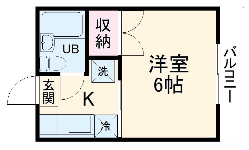 ストークハイツ田口・102号室の間取り