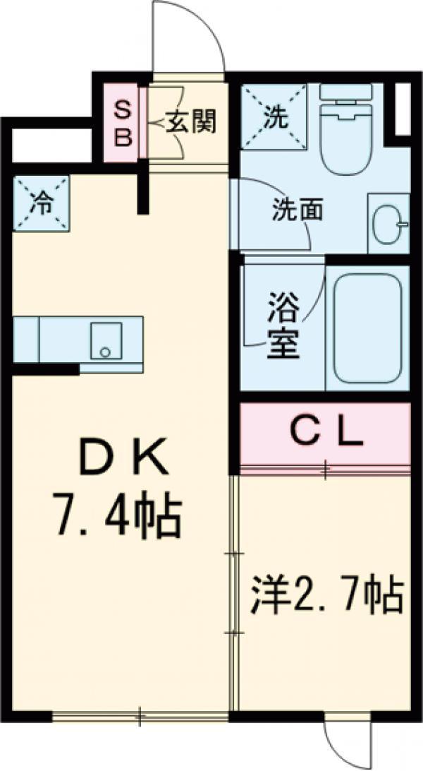 ラ・ぺルラ池尻大橋Ⅱ・204号室の間取り