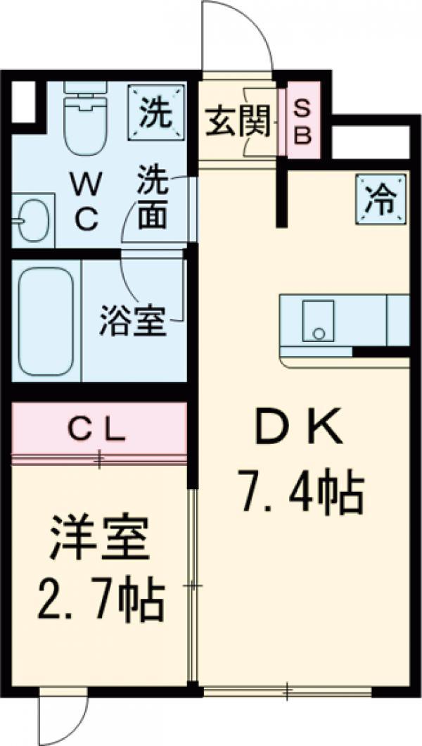 ラ・ぺルラ池尻大橋Ⅱ・205号室の間取り