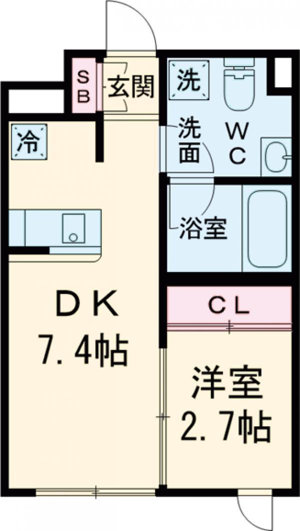 ラ・ぺルラ池尻大橋Ⅱ・402号室の間取り