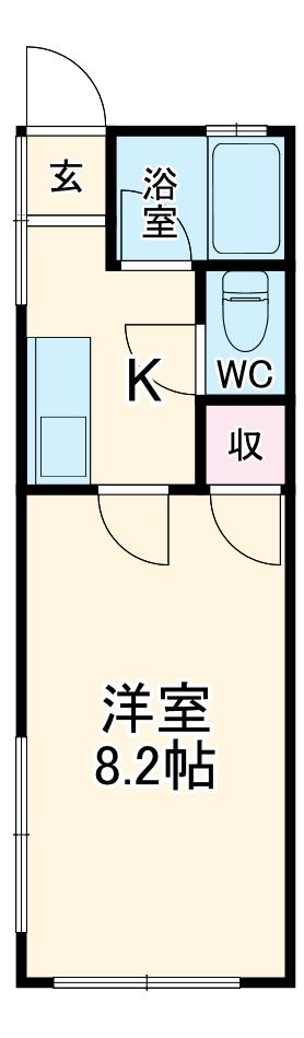 望栄荘・101号室の間取り