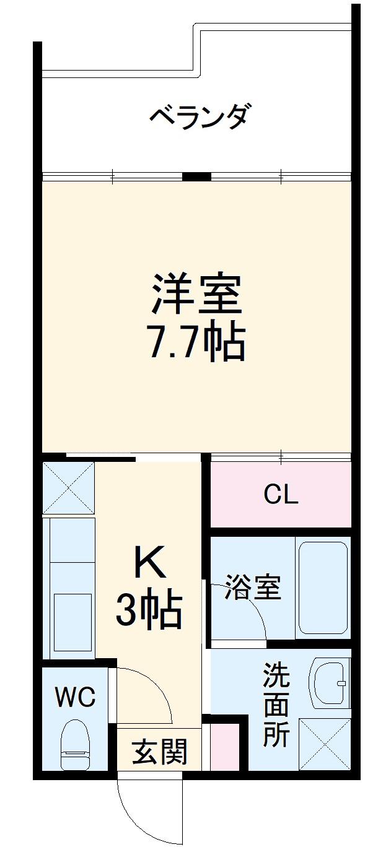 トーマス沖縄東Ⅱ・203号室の間取り