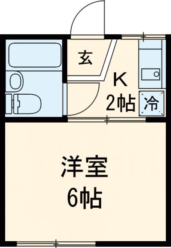 CASA・NASU B棟 203号室の間取り