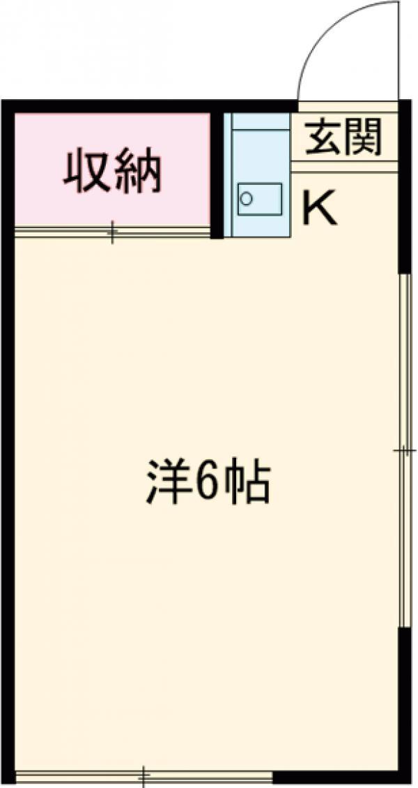松﨑アパート 202号室の間取り