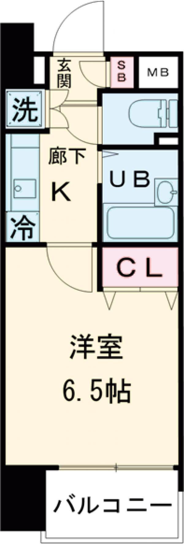 プレール高円寺・703号室の間取り