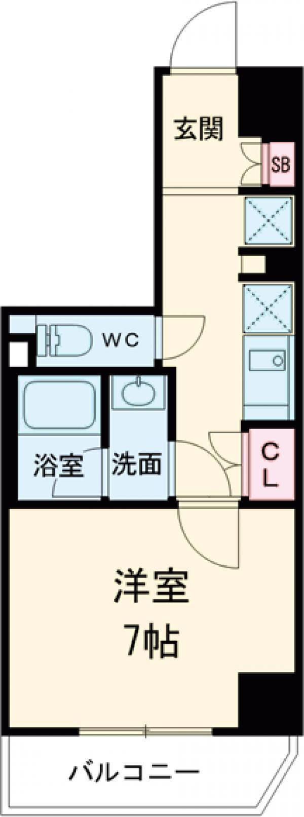 レオーネ高島平・805号室の間取り