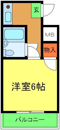 ユウパレス穴田・4I号室の間取り