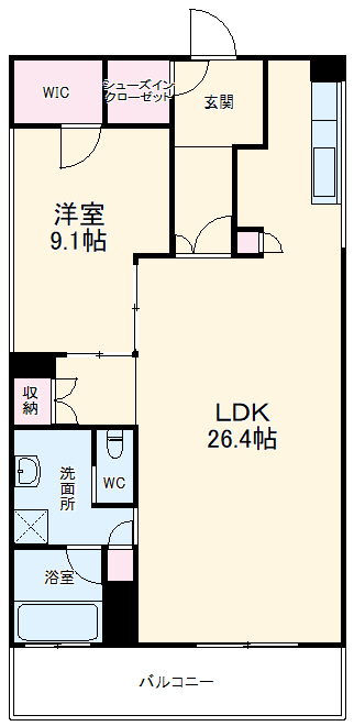 THE RYCOMHILLS RESIDENCE OKINAWA・205号室の間取り