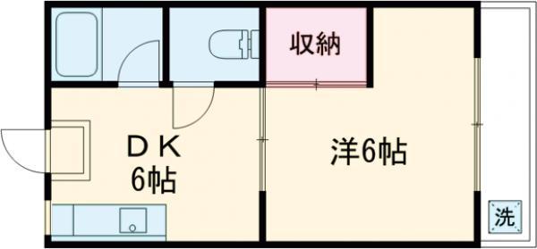 第16島田マンション 307号室の間取り