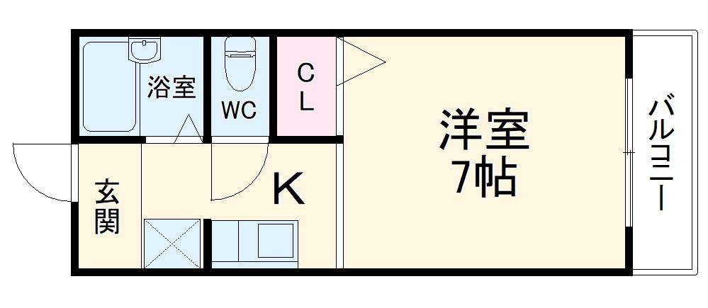コーポ・エイト・105号室の間取り