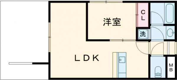 THE CLASS EX Residence・102号室の間取り