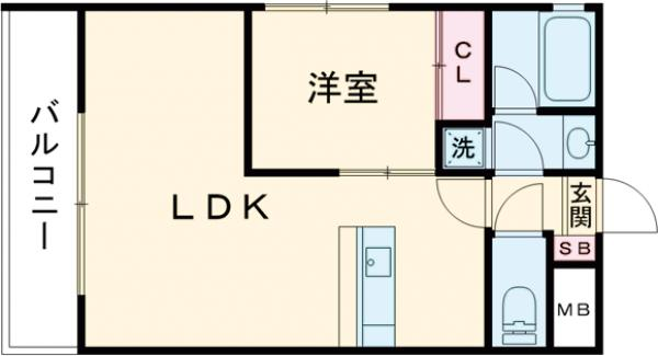 THE CLASS EX Residence・202号室の間取り